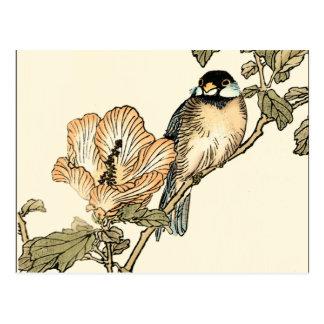 Oriental Bird Perched on Branch Postcard
