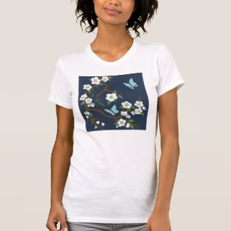 Oriental blossom and butterfly T-Shirt