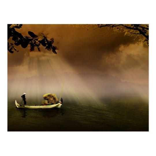 Oriental Boat Postcard