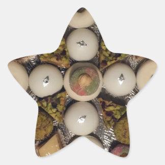 Oriental cakes star sticker