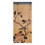 Oriental Camellia and Warbler Custom Rack Card
