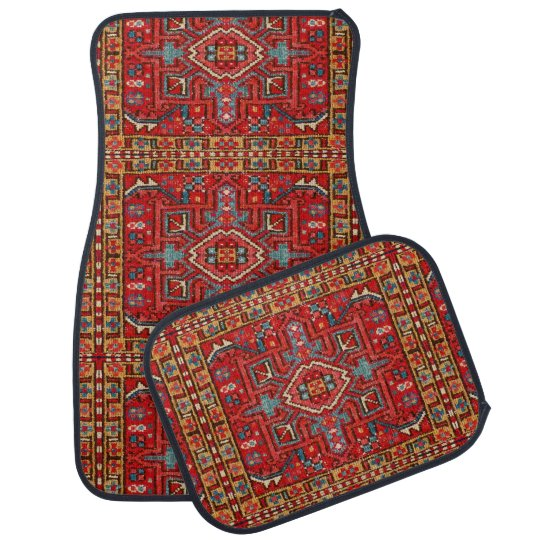 Oriental Carpet Repeating Pattern Photo Print Car Mat