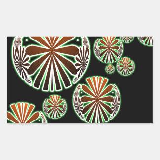 Oriental Chic Pattern Rectangular Sticker