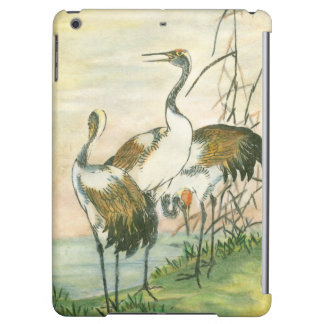 Oriental Cranes by the Water