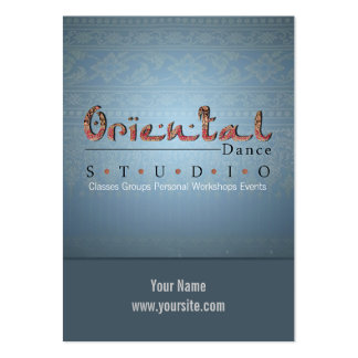 Oriental Dance - Business-, Schedule Card Business Card Templates