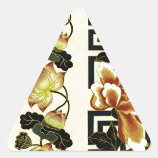oriental Design Triangle Sticker