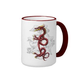 Oriental dragon coffee mug