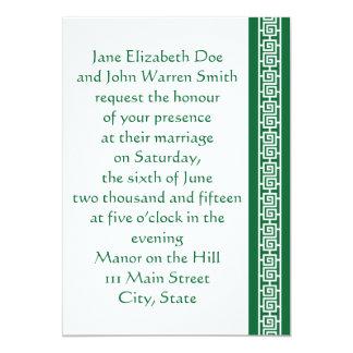 Oriental Elegance in Green Wedding Invitation