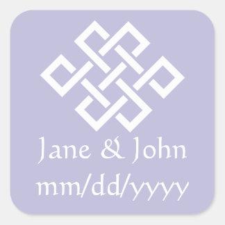 Oriental Elegance in Lavender Sticker
