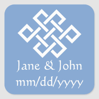 Oriental Elegance in Periwinkle Sticker