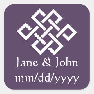 Oriental Elegance in Purple Sticker