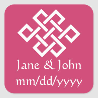 Oriental Elegance in Raspberry Sticker