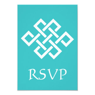 Oriental Elegance in Turquoise RSVP Card 9 Cm X 13 Cm Invitation Card