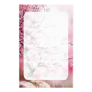 Oriental Fantasy Cherry Blossom Stationery