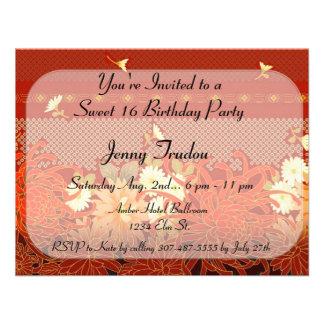 Oriental Floral Multi purpose Birthday Invitation
