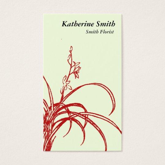 Oriental Florist Business Card