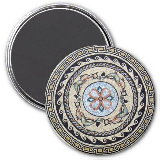Oriental Flower Center Medallion Mosaic Magnets