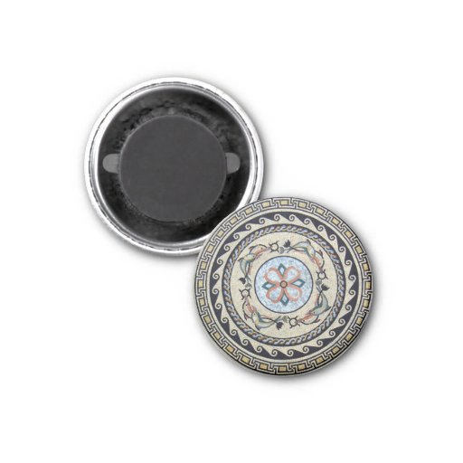 Oriental Flower Center Medallion Mosaic Refrigerator Magnets