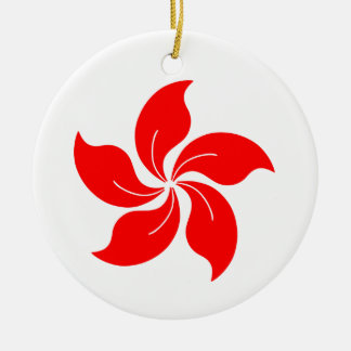Oriental Flower Christmas Ornament