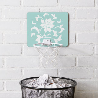 Oriental Flower - Limpet Shell Circular Pattern Mini Basketball Hoop