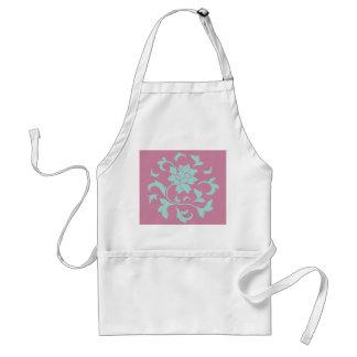 Oriental Flower - Limpet Shell - Pink Standard Apron