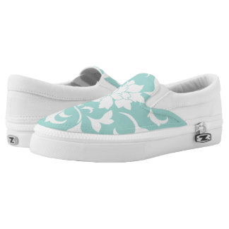 Oriental Flower-Limpet Shell Slip On Shoes