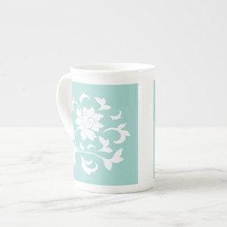 Oriental Flower - Limpet Shell Tea Cup