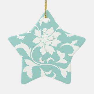 Oriental Flower - Limpet Shell - White Ceramic Star Decoration