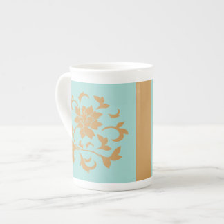 Oriental Flower - Limpet Shell - Yellow Tea Cup