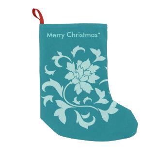 Oriental Flower - Merry Christmas - Green Small Christmas Stocking