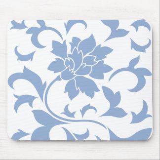 Oriental Flower - Serenity Blue Mouse Mat