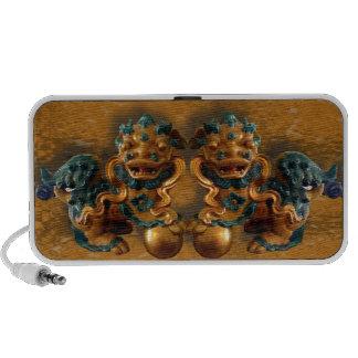 Oriental Foo Dogs Laptop Speakers