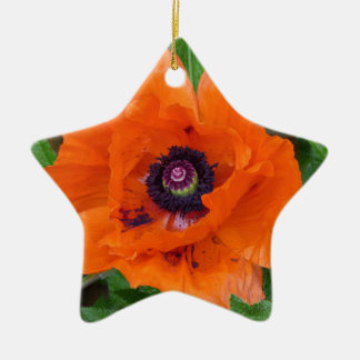 Oriental Garden Poppy Christmas Ornament