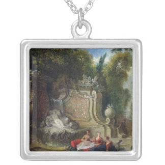 Oriental Garden Silver Plated Necklace