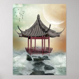 Oriental Gazebo Poster