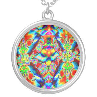 Oriental Good Luck Patterns Round Pendant Necklace