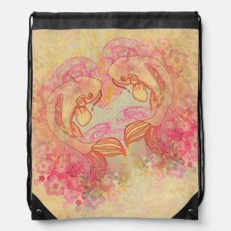 Oriental Koi Carp, Drawstring Backpack