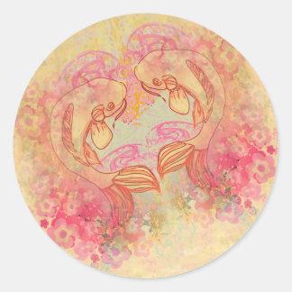 Oriental Koi Carp, Sticker