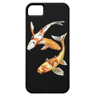 Oriental Koi Goldfish on Black Case For The iPhone 5