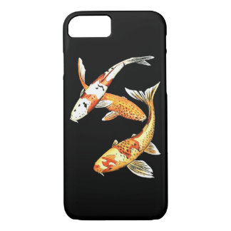 Oriental Koi Goldfish on Black iPhone 7 Case