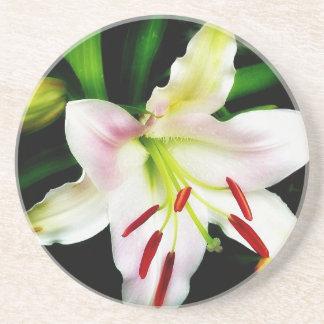 Oriental Lily Beverage Coaster