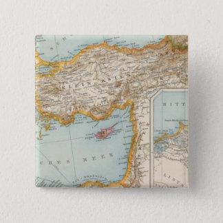 Oriental Mediterranean Map 15 Cm Square Badge