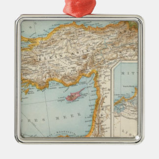 Oriental Mediterranean Map Christmas Ornament