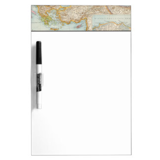 Oriental Mediterranean Map Dry Erase White Board
