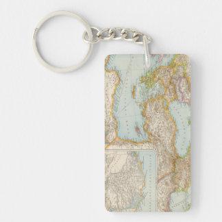 Oriental Mediterranean Map Key Ring