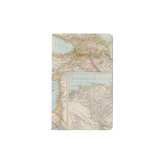 Oriental Mediterranean Map Pocket Moleskine Notebook