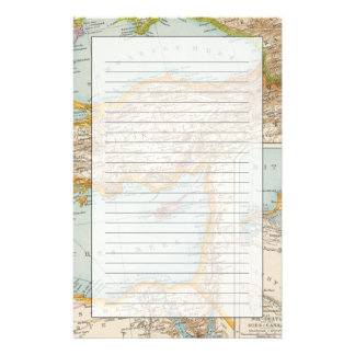 Oriental Mediterranean Map Stationery