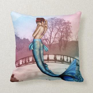 Oriental Mermaid Throw Pillow