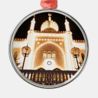 Oriental palace at night christmas ornament