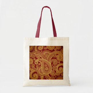 Oriental Persian Paisley, Swirls - Red Yellow Tote Bag